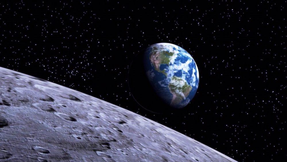 Raumschiff blauer Planet